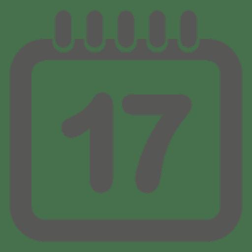 fae861431ebd93fa953bd0df55e5da3a-icono-de-calendario-fecha-17-by-vexels