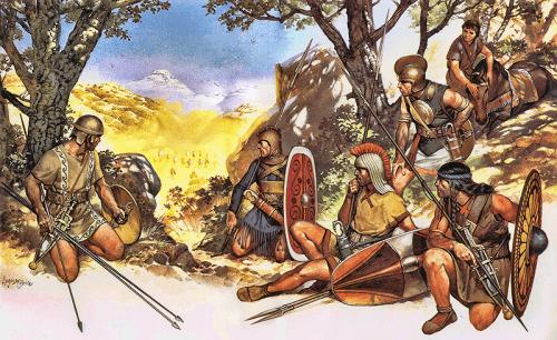 guerreros-iberos-preparando-una-emboscada